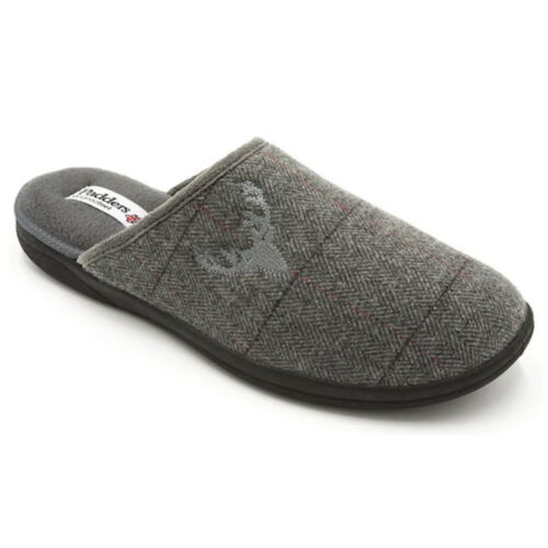 Details about  /MENS PADDERS STAG SLIP ON MULE TEXTILE INDOOR HOUSE SLIPPERS WINTER MEMORY FOAM