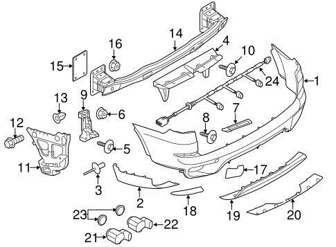 Bmw neuf origine X5 série E70 10-13 pare-chocs arrière tow cover kit gauche droite 7271815
