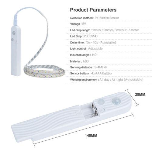 LED Strip PIR Motion Sensor SMD2835 Flexible Waterproof String Light Lamp DC5V