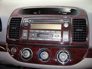 toyota camry ce se le xle interior burl wood dash trim kit set 2002 2003 2004 04 ebay toyota