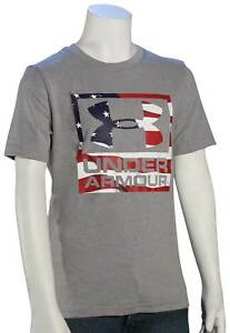 b553da92 Under Armour Boy's Big Flag Logo T-Shirt - True Grey Heather - New ...