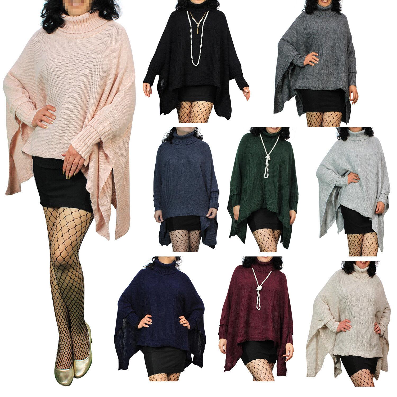 d52df4bff3065b GOGO Strick-Poncho Pulli winter Mantel Damen Pullover Umhang Überwurf  Cardigan
