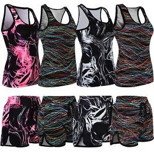 Ladies-Gym-Sports-Vests-or-Shorts-Women-Active-Run-Wear-Fitness-Vest-Shorts-XS-L