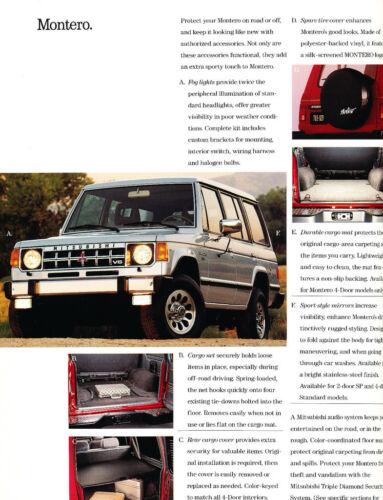 Galant Sigma Eclipse Van Montero Truck 1990 89 Mitsubishi Accessories Brochure