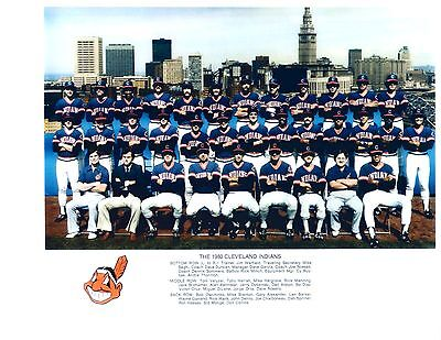1980 CLEVELAND INDIANS TEAM 8x10 PHOTO VINTAGE BASEBALL OHIO MLB USA