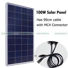 100Watt Poly Solar Panel 12V PV Solar Module for Caravan Boat Home Power System
