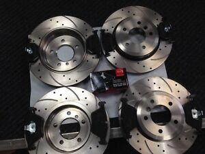 BMW-330CI-330D-330i-E46-frente-y-parte-trasera-perforado-y-ranurado-discos-y-almohadillas-99-05