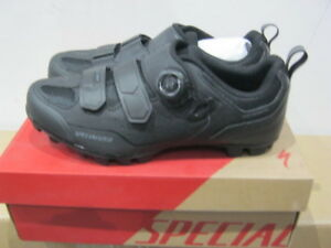 New-in-a-Box-Specialized-Comp-Shoes-MTB-Mountain-Bike-black-darkgrey-Shoes