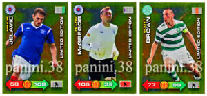 RARE-3-Cards-LIMITED-EDITION-034-SCOTTISH-PL-ADRENALYN-2011-2012-034-Panini