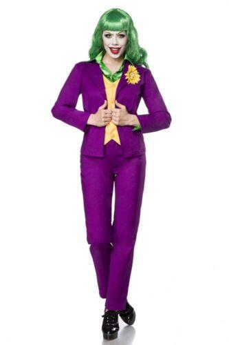 Travestimento donna carnevale lady joker costume adulti originale verde uy 80069