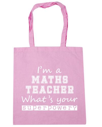 Tote Shopping Palestra Borsa Da Spiaggia 42cm x38 HO un insegnante di matematica AM qual è il tuo superpotere