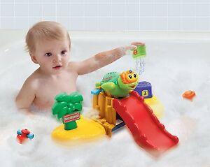 ab 12 monate baby badespa spielzeug badewanne schwimmende insel lieder melodien ebay. Black Bedroom Furniture Sets. Home Design Ideas