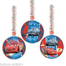 "3 Disney CARS 2 Party Dangling 9"" Cutouts Decorations"