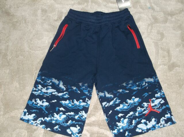 0b745682a5f Air Jordan Camo Clouds Shorts Blue size Youth Medium 10-12 nwt Free Shipping