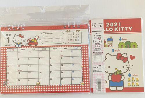 Hello Kitty Desktop ring Calendar /&Schedule Planner Book 2021 Sanrio kawaii NEW