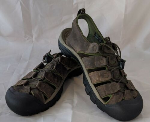 Keen Men Sandal Shoe Newport Size13 Brown Green Wa