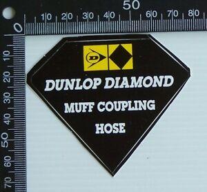 VINTAGE-DUNLOP-DIAMOND-MUFF-COUPLING-HOSE-RACING-SPONSOR-CAR-ADVERTISING-STICKER