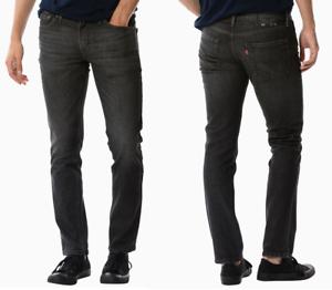 d35c196ccd20 Genuine LEVIS Mens 511 Slim Fit Charcoal Dark Grey Black Denim Jeans ...