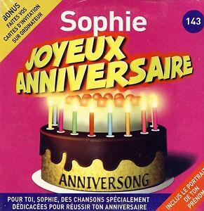 Détails Sur Joyeux Anniversaire Sophie 10 Titres