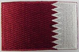 Katar-Aufnaeher-gestickt-Flagge-Fahne-Patch-Aufbuegler-6-5cm-neu