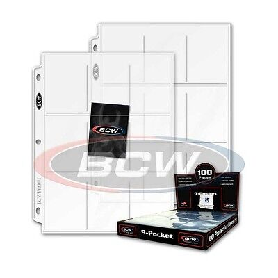 100 - 8 Pocket Card / Page Protectors BCW Pro8T Coupons - fits 3 ring binders