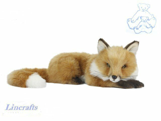 Hansa Lying Fox Cub 6990  Plush Soft Toy Sold by Lincrafts Established 1993