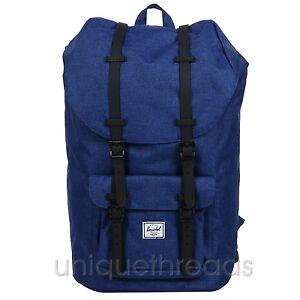 24a72b1b9a5 Image is loading Herschel-Supply-Co-Little-America-Backpack -Eclipse-Crosshatch-