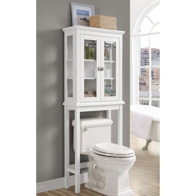 Scarsdale Over Toilet Home Bathroom Wood Storage Shelf Cabinet W