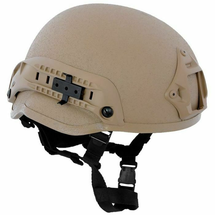 MFH Casco MICH 2002 ABS Tactical Paintball Militare Airsoft Coyote