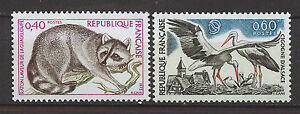 FRANCIA-FRANCE-1973-MNH-SC-1369-70-Nature-Protection