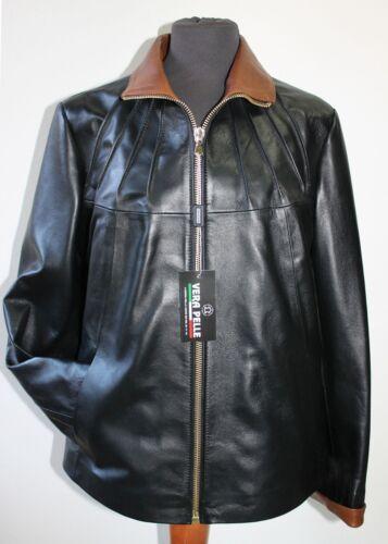Tan Handmade Jacket Fit Italian Size amp; 4xl Black Comfort Lambskin Women Leather Sx6dw01q