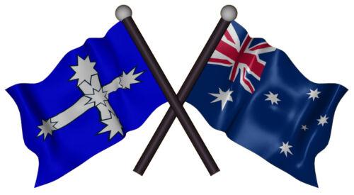 AUSTRALIA EUREKA FLAGS VINYL DECAL  130MM BY 70 MM apr.