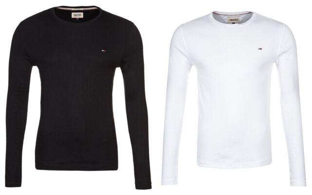 Tommy Hilfiger Denim Trump Long Sleeve Crew T-Shirt Black White Various  Sizes 10163a1025