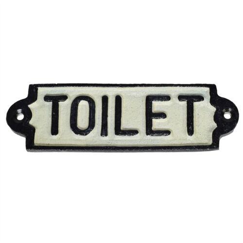 Toilet Loo Cast Iron Sign Plaque Door Wall Fence Post Cafe Shop Pub Hotel Bar