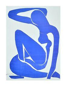 Henri Matisse Nu Bleu I Poster Art Print Picture 70x50 cm