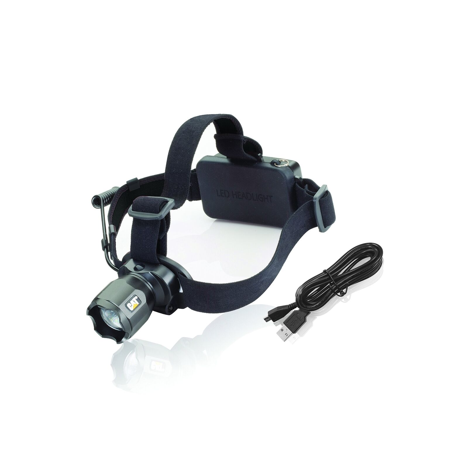 Cat  CT4205  380 Lumen Rechargeable CREE LED Focusing Headlamp with Adjust... New  free shipping!