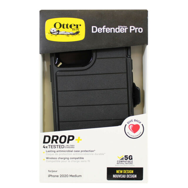 Otterbox Defender Series Holster Clip Case for iPhone 12 / 12 Pro - Black