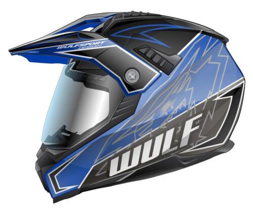 blau Motorrad Quad Bike Enduro MX BMX Wulfsport Prima-X Cross Helm XXL 63-64cm