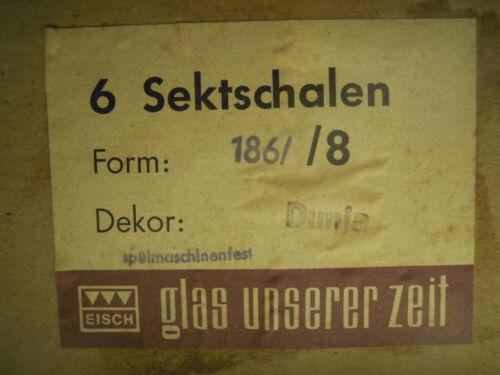 mundgeblasen modisch elegantes Glas Eisch Dunja 186//8 6x Sektschale