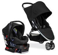 Britax B-agile 3 Stroller & B-safe 35 Car Seat Travel System Black