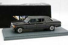 Neo 1/43 - Mercedes 250 E 300 W123 Lang Noire Limousine