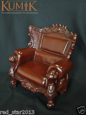 """1:6 Scale Brown Leather Sofa furniture For 12"""" Dolls Barbie Action Figure"""