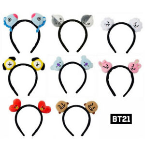 BTS-BT21-Official-Authentic-Goods-Plush-Hair-Band-8Characters-Tracking-Number