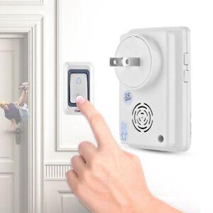 Digital Timbre Puerta Inalámbrico IP55 28 Tonos Rango 300m Transmisor + Receptor