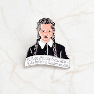 Avoir Un Esprit De Recherche Femmes Mignon émail De La Famille Addams Inspiré Mercredi Addams Broche Bijoux-afficher Le Titre D'origine Le Prix Reste Stable