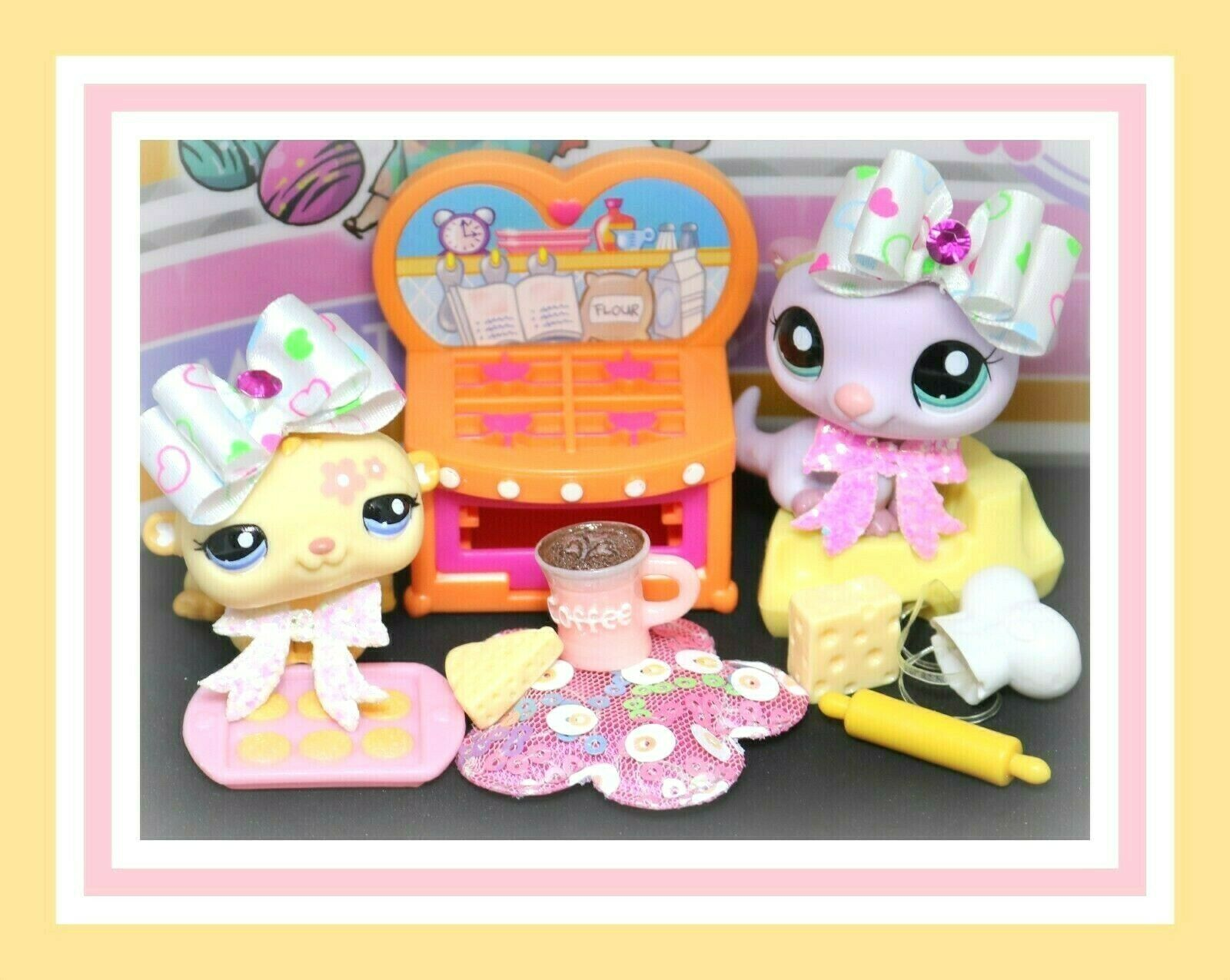 ️Authentic Littlest Pet Shop LPS Pink OTTER OTTER OTTER HAMSTER Baking Oven ️ 14d3b2