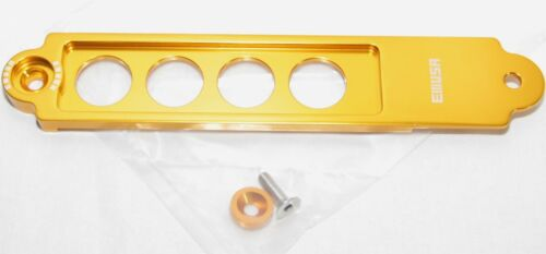 EMUSA Billet Battery Tie Down fit 02-06 Acrua RSX Coupe 2D 2.0L GOLD