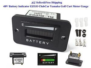 AU-48V-Battery-Indicator-48-Volt-EZGO-ClubCar-Yamaha-Golf-Cart-Meter-Gauge-New