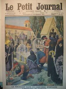 ESPAGNE-COUTUME-DE-LA-TOUSSAINT-PERENCHIES-TRAIN-ET-CHEVAL-LE-PETIT-JOURNAL-1913