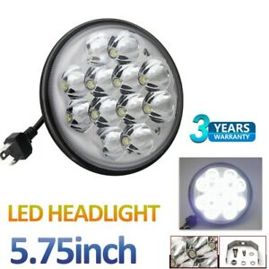 """5-3/4"""" 5.75"""" Round LED Lights Crystal Clear Headlight for Motorcycle Headlamp"""